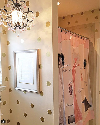 Gold Polka Dot Wall Stickers (100 decals) - Kids Room Mural Wall Decals