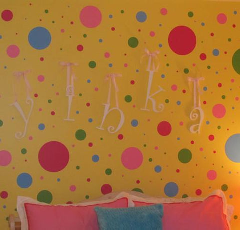Fun Wall Dots Decals (126) Polka Dot Wall Stickers! - Kids Room Mural Wall Decals