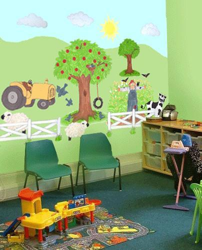 Preschool farm animal mural design create a mural for How to design a mural
