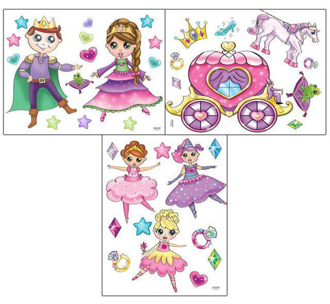 Princess Wall Stickers - Kids Room Mural Wall Decals