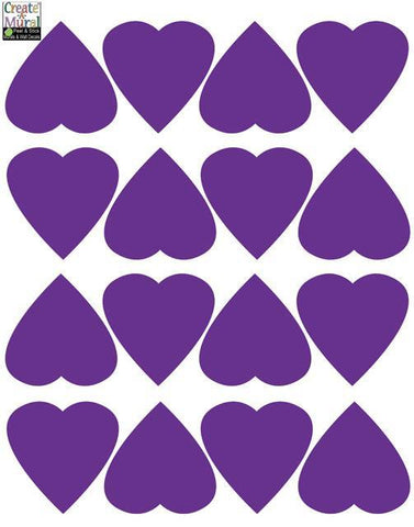 Heart Wall Decals -Purple - Create-A-Mural