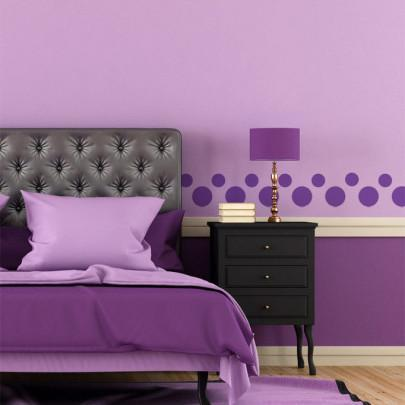 Lavender Purple Polka Dot Decals