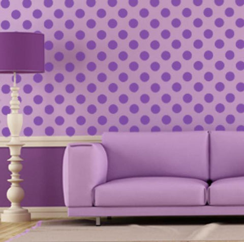 Lavender Purple Room Dots - Kids Room Mural Wall Decals