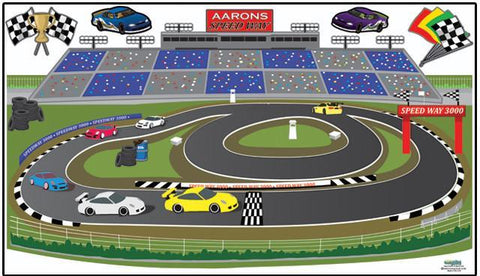 Race Track Adventures Mural - Kids Room Mural Wall Decals