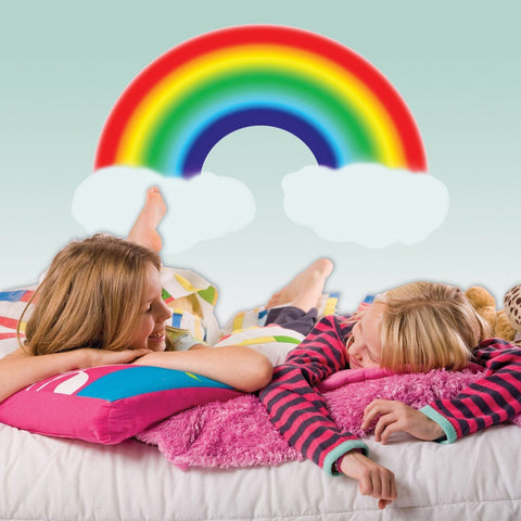 Primary Rainbow Mural - Kids Room Mural Wall Decals