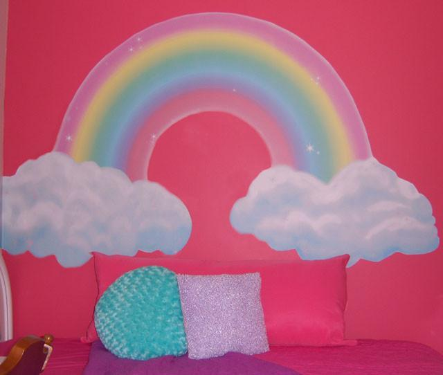 Girls Room Rainbow Mural