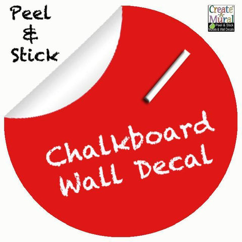 "Chalkboard Dot Decal - Red 11"" - Create-A-Mural"