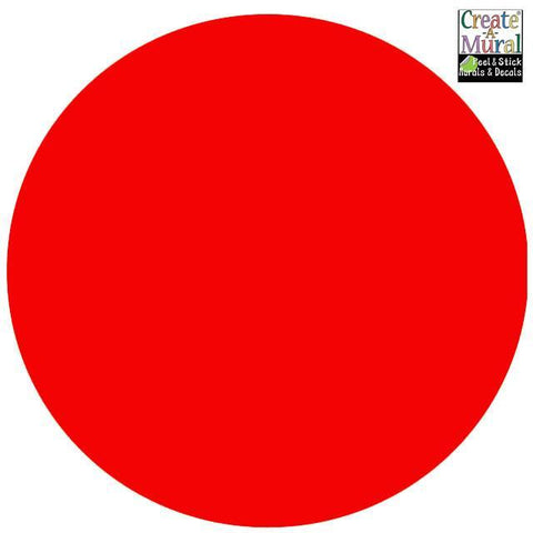 "Dry Erase -11"" Red Dot Decal"