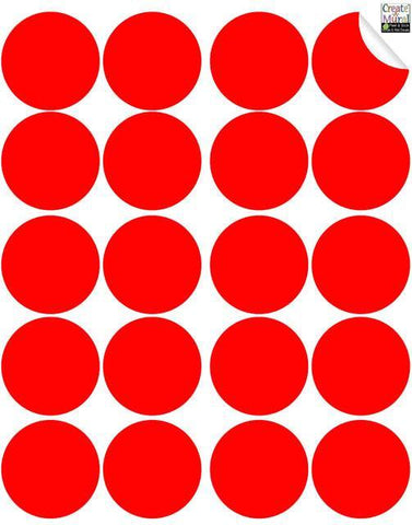 Red Dot Wall Decal - Create-A-Mural
