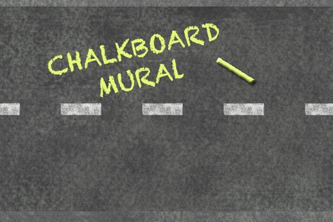 Road Chalkboard Mural - Kids Room Mural Wall Decals