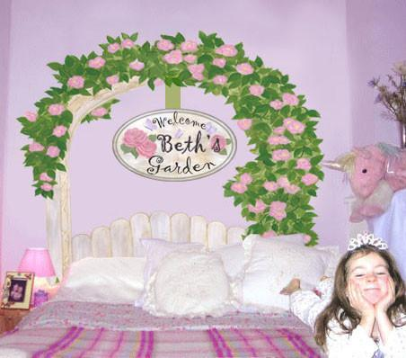 Rose Ardor Custom - Kids Room Mural Wall Decals