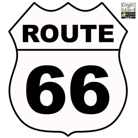 Route 66 Sign Wall Decal - Kids Room Mural Wall Decals