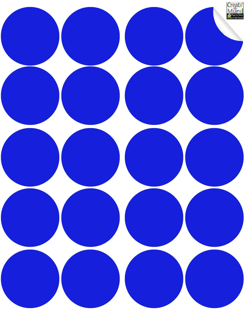 Blue Wall Dot Decal
