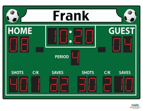 Scoreboard Personalized Mural Decal - Create-A-Mural
