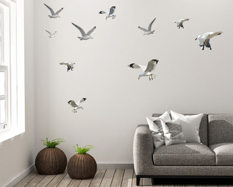 Seagull Flock Wall Decals