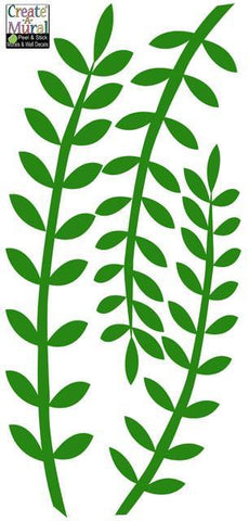 Leafy Seaweed Wall Decals - Kids Room Mural Wall Decals