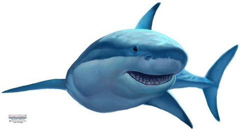 Great White Shark Wall Decals - Kids Room Mural Wall Decals