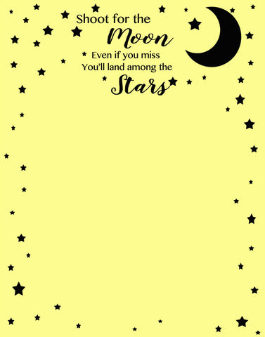 Shoot For The Moon Quote Dry Erase Wall Decal Sheet - Create-A-Mural