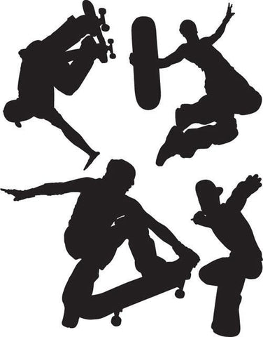 Skateboarders Wall Stickers - Create-A-Mural