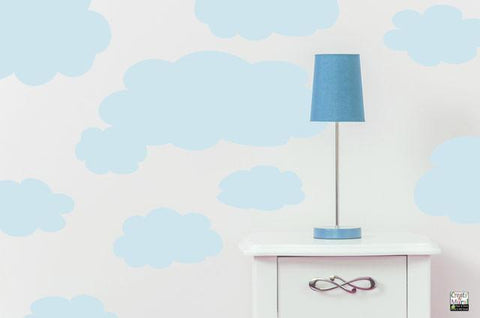 Sky Blue Cloud Wall Mural - Create-A-Mural