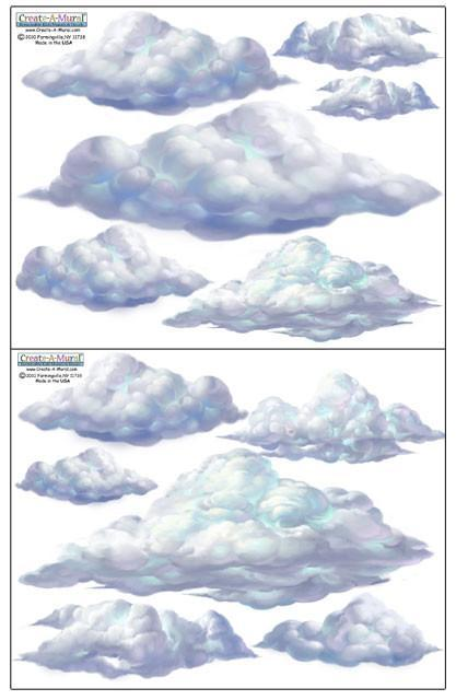 Sky Cloud Wall Decals