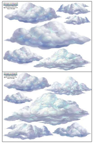 Sky Cloud Wall Decals - Create-A-Mural