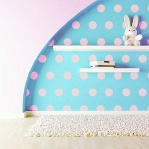 Soft Pink Room Dot Decals - Kids Room Mural Wall Decals