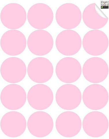 Soft PinkWall Dot Decals - Create-A-Mural