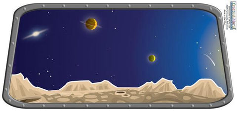 Space Window Mural - Create-A-Mural