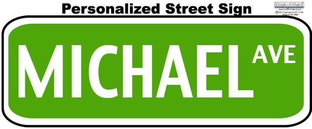 Street Sign Wall Decal