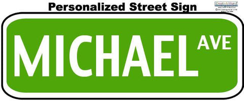 Street Sign Wall Decal - Kids Room Mural Wall Decals