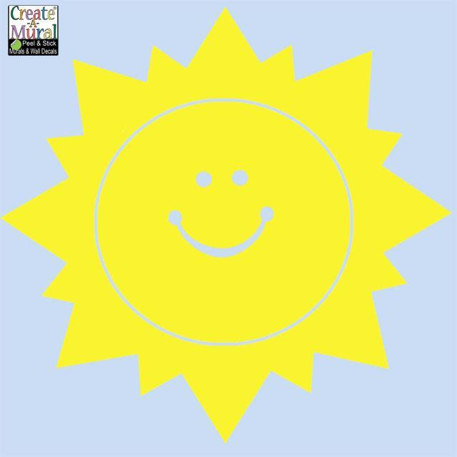 Smiley Sun Wall Decal
