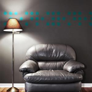 Teal Room Dot Decals