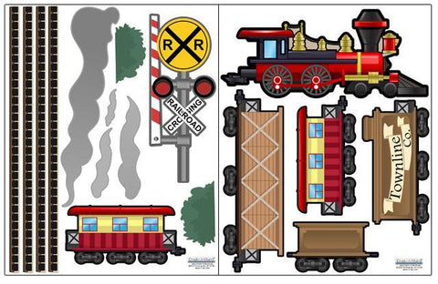 Train Wall Decals - Kids Room Mural Wall Decals