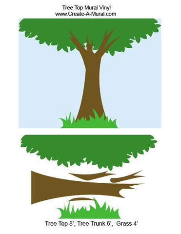 Tree Top Mural - Kids Room Mural Wall Decals