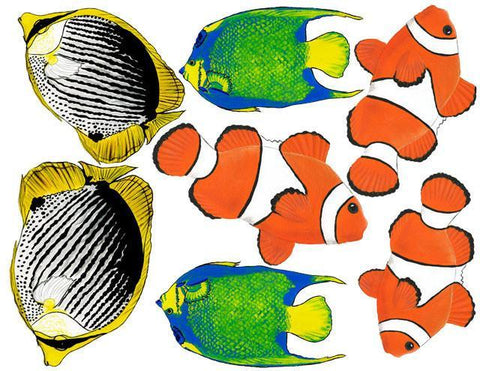 Tropical Fish Wall Stickers - Kids Room Mural Wall Decals