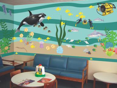 Under Water Adventures Classroom Mural Kit