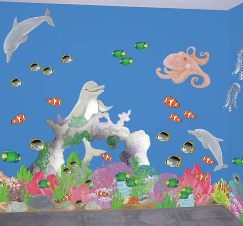 Magical Under Sea Adventures Mural - Kids Room Mural Wall Decals