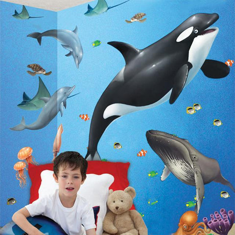 Ocean Sea Animal Mural - Kids Room Mural Wall Decals