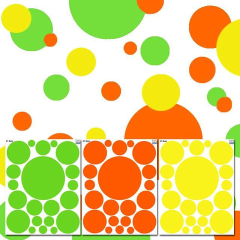 Wall Dots Citrus Colors