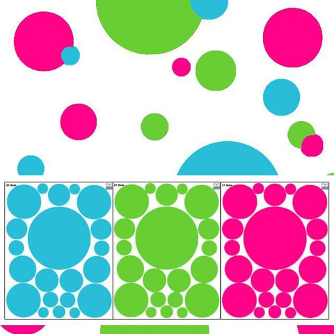 Wall Dot Decals -Tropical