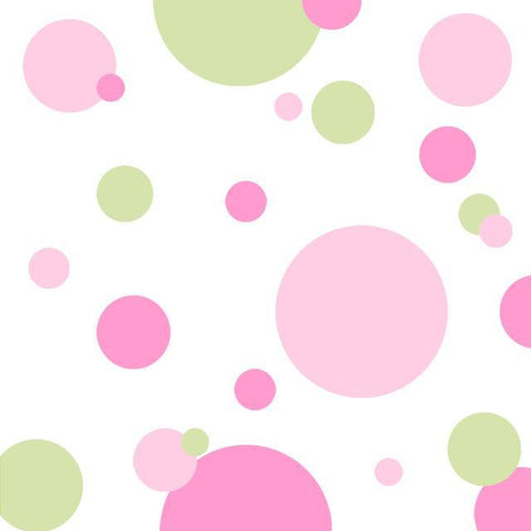 Wall Dots Decals -2 Pinks & Sage Green