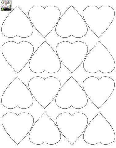 Heart Wall Decals -White - Create-A-Mural