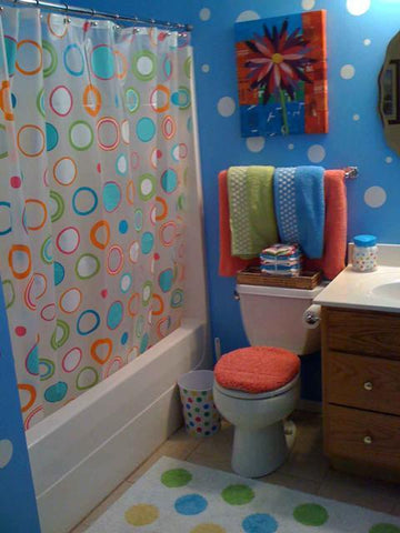 Polka Dot Decals (63) White Wall Dots