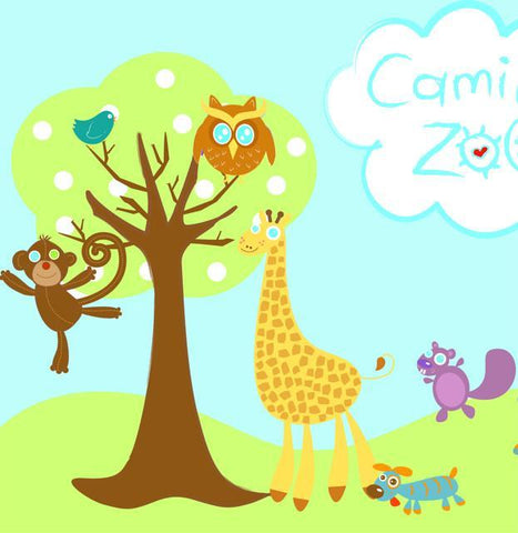 Baby Zoo Animal Mural - Create-A-Mural