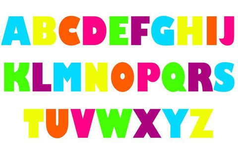 "Alphabet Capital Letter Decals 12"" Letters - Kids Room Mural Wall Decals"