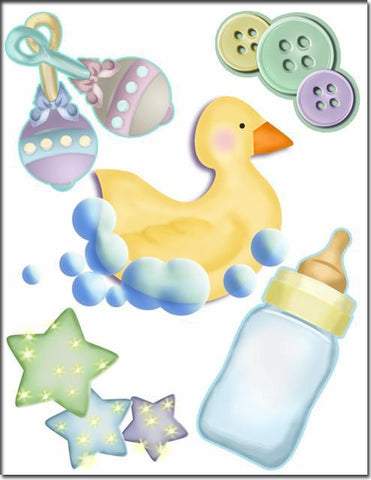 Baby Rattle and Duckie Wall Decals