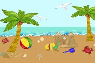 Beach Mural - Kids Room Mural Wall Decals