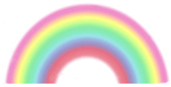Pretty Rainbow for Girls Room Walls