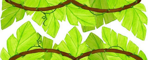 Jungle Leaf Border - Create-A-Mural